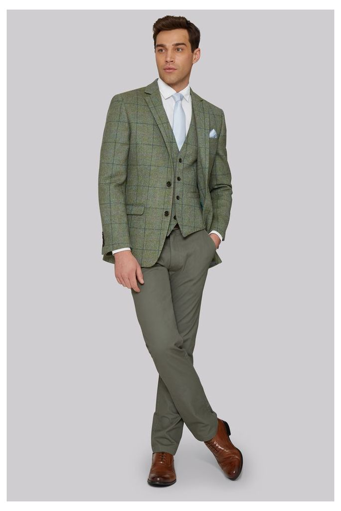 Moss 1851 Tailored Fit Green Multicheck Jacket