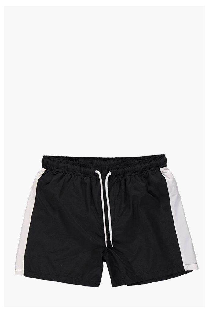 Stripe Swim Shorts - black