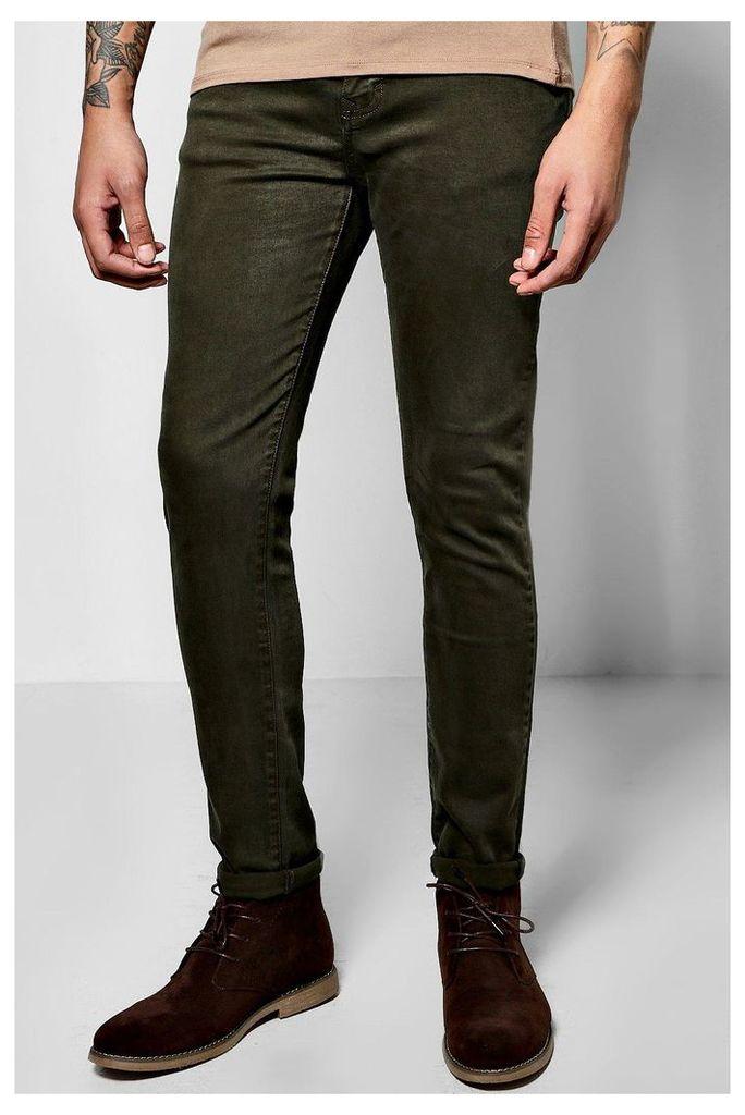 Fit Colour Jeans - khaki