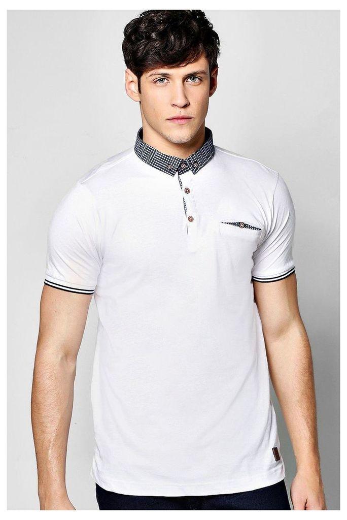 Collar Polo T Shirt - white