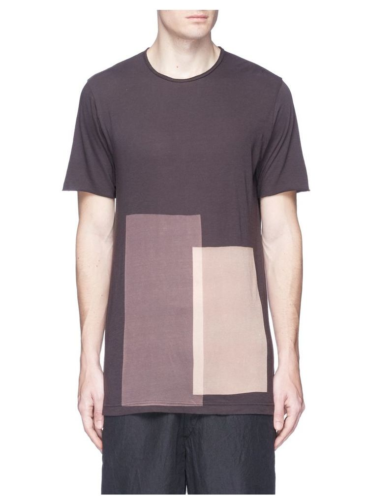 Bleached panel T-shirt