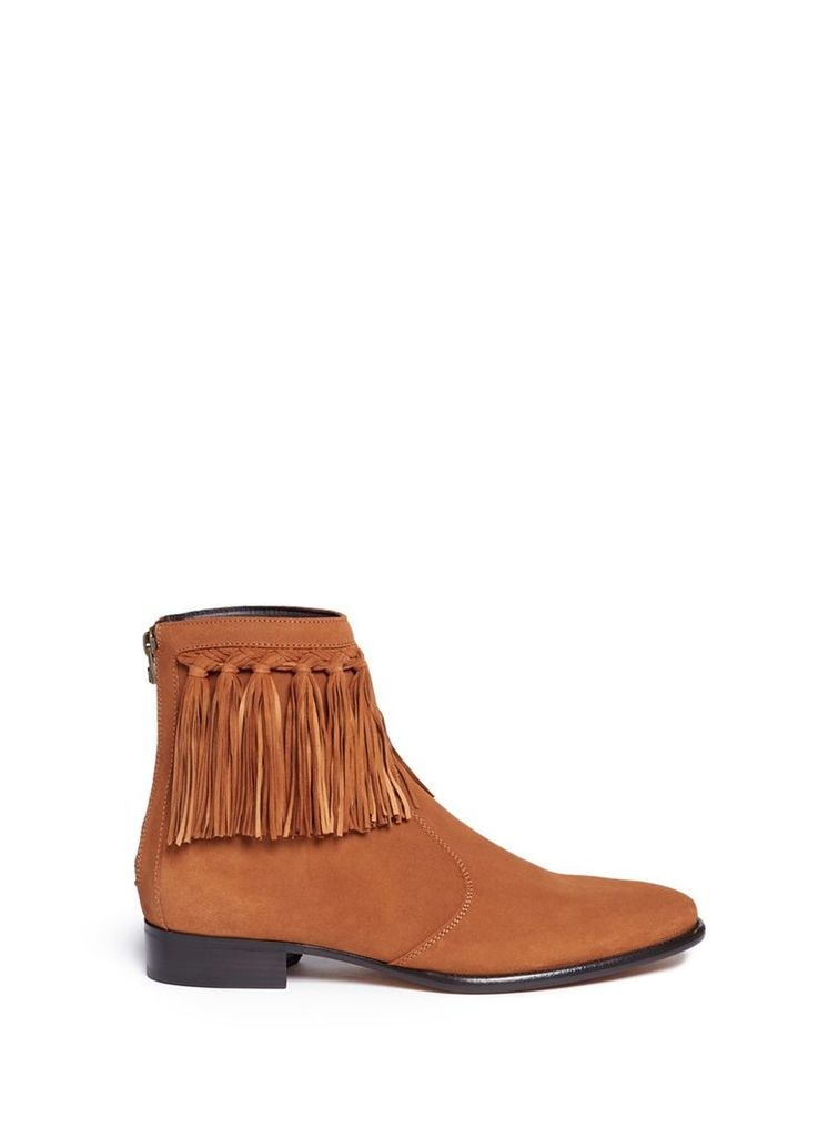 'Eric' fringed suede boots