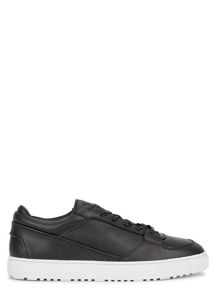 Low 3 black leather trainers