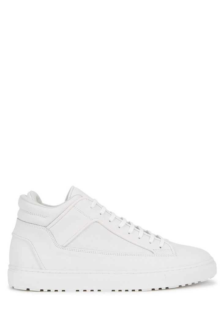 Mid 2 white leather trainers
