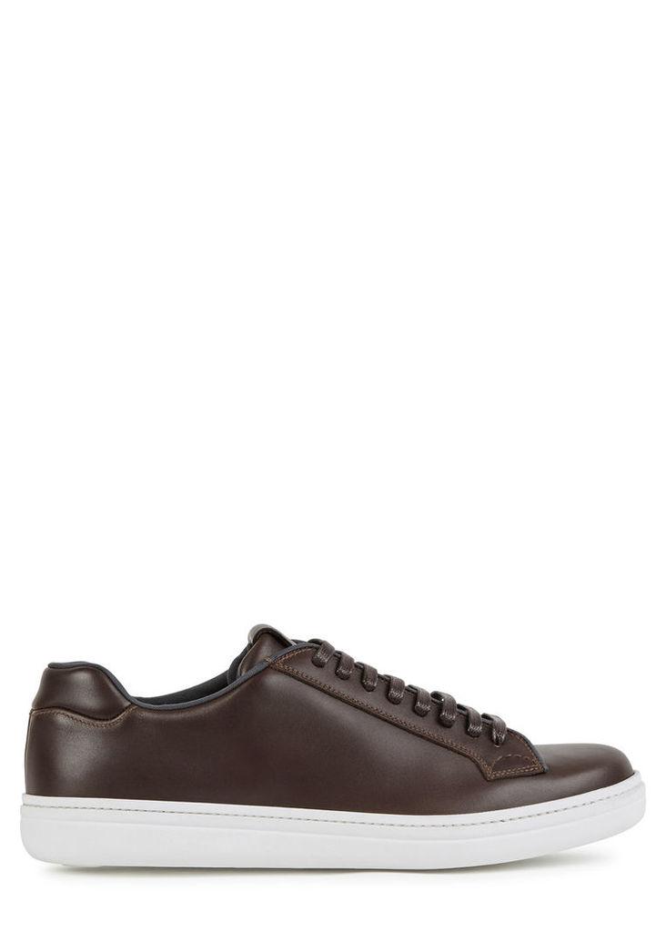 Mirfield dark brown leather trainers