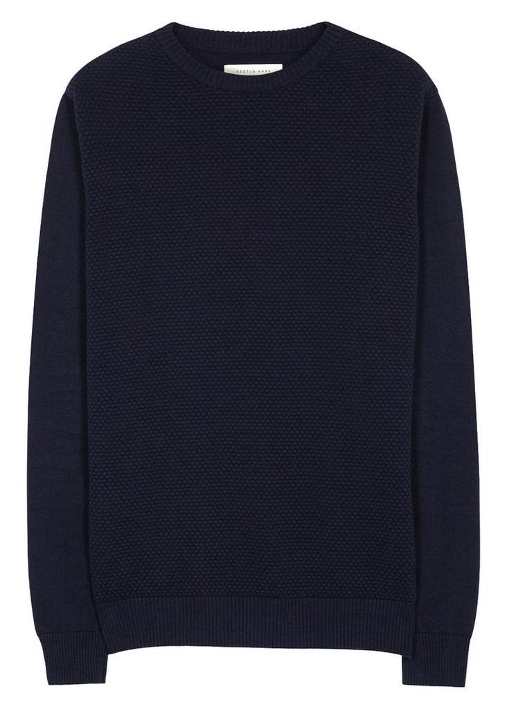 Ardross textured cotton jumper
