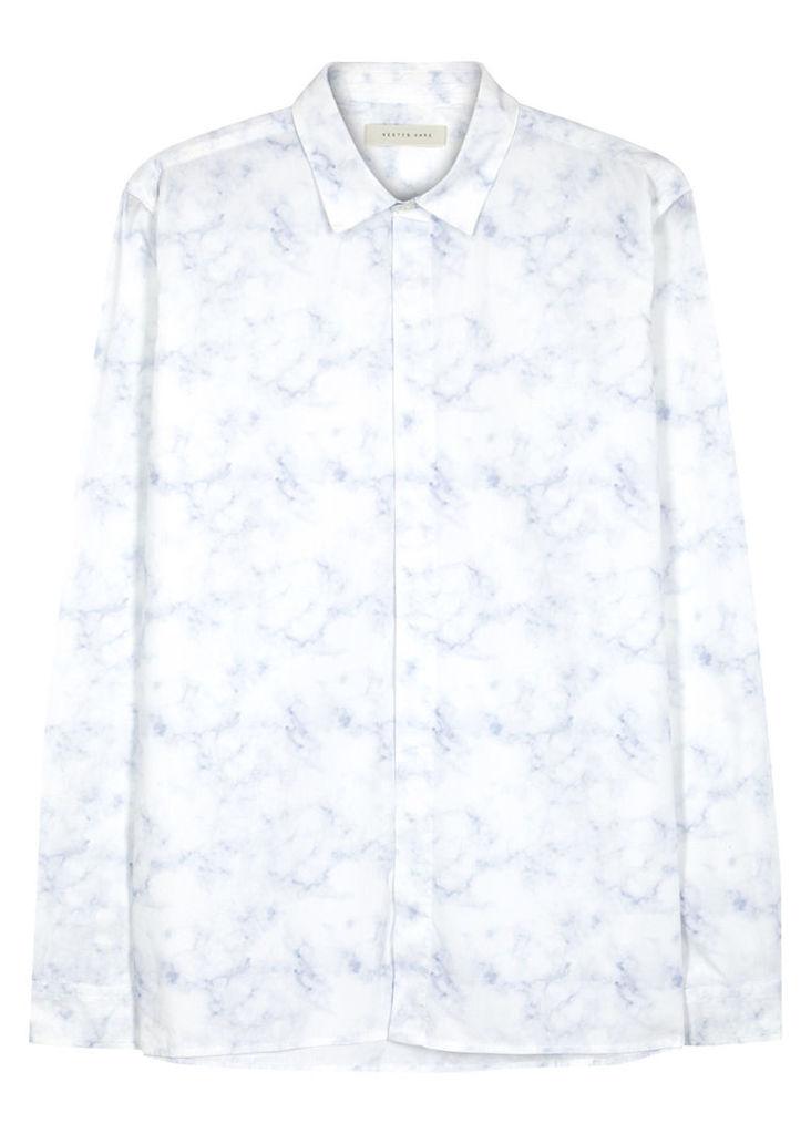 Helmsdale mineral-print cotton shirt
