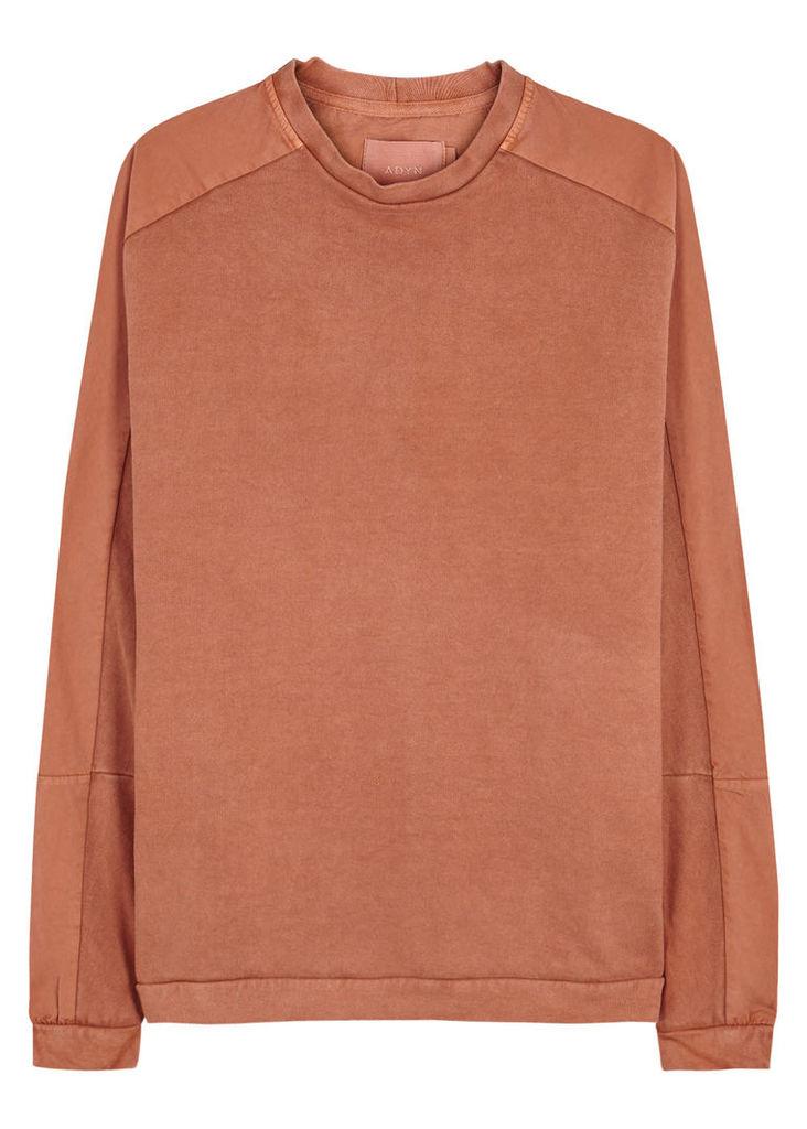 Erosion rust contrast jersey sweatshirt