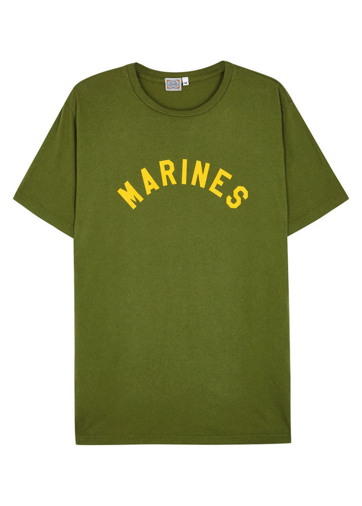 Marine printed cotton T-shirt