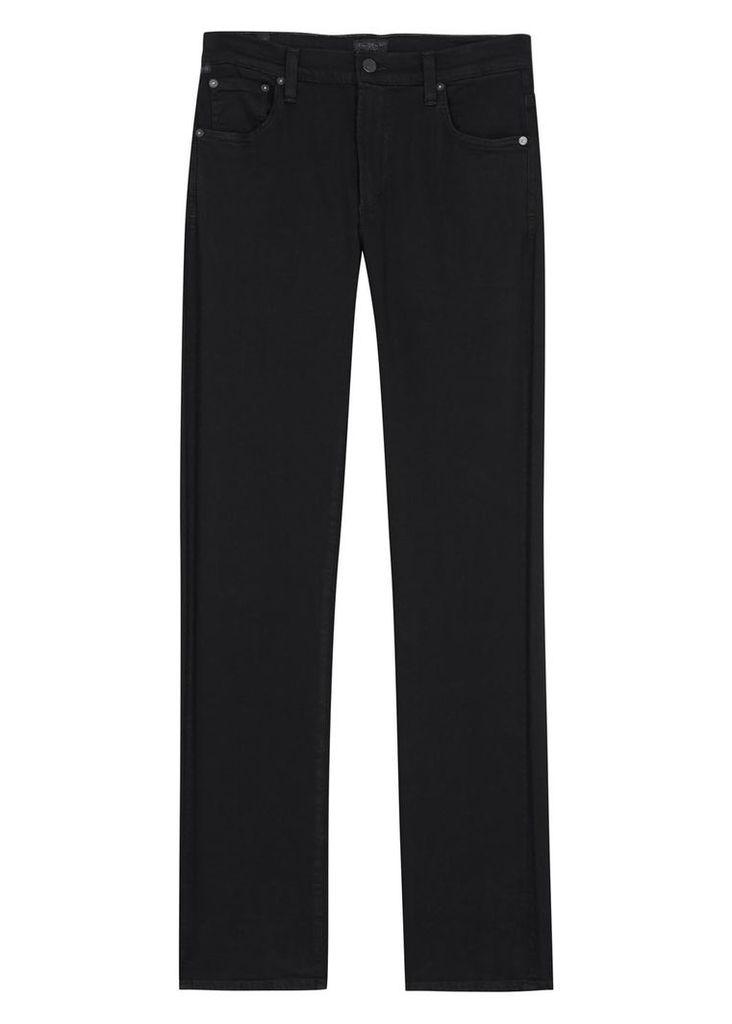 Mod black slim-leg jeans
