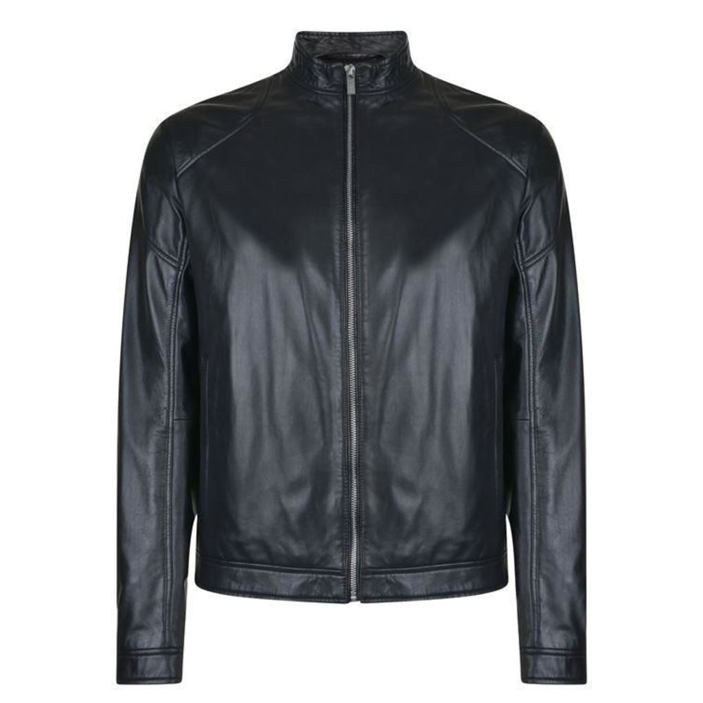 HUGO BY HUGO BOSS Lesson Leather Jacket
