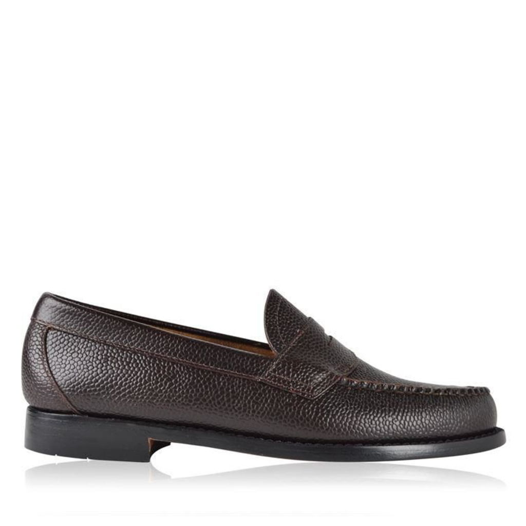 BASS WEEJUNS Logan Grained Leather Loafers