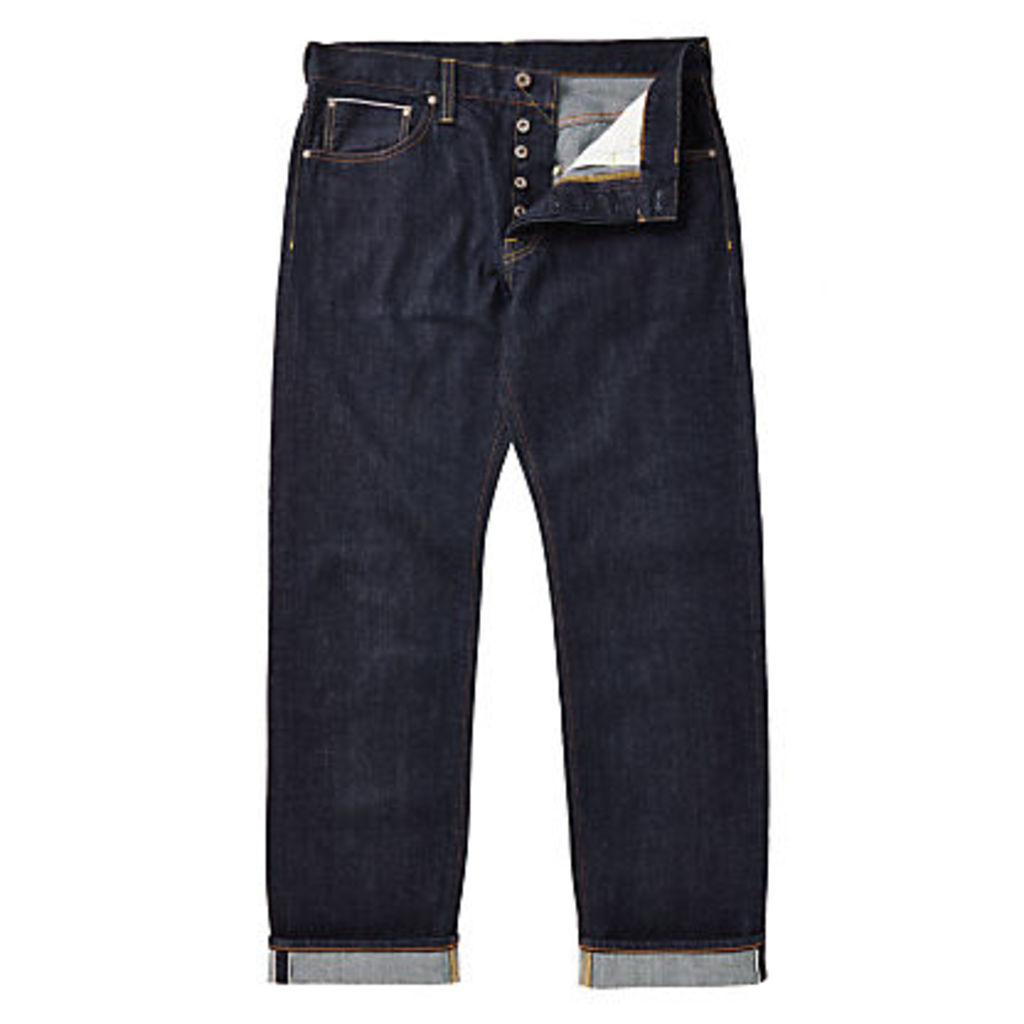 JOHN LEWIS & Co. Washed Japanese Selvedge Denim Jeans, Blue