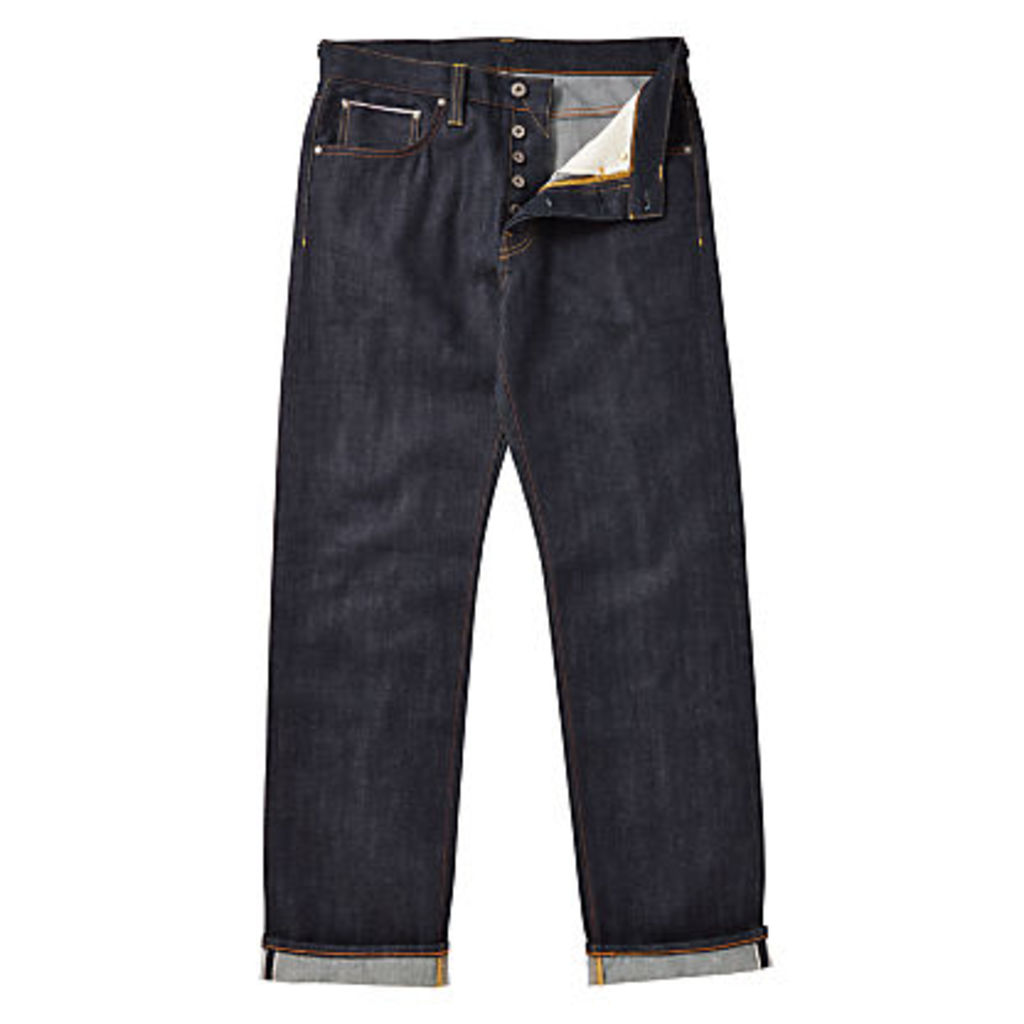JOHN LEWIS & Co. Unwashed Japanese Selvedge Denim Jeans, Blue