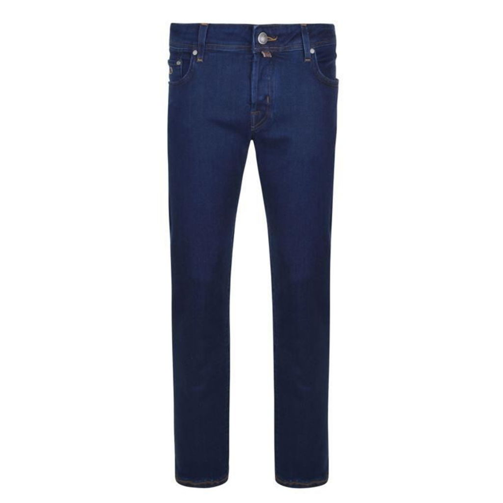 JACOB COHEN Dark Wash Badge Slim Fit Jeans