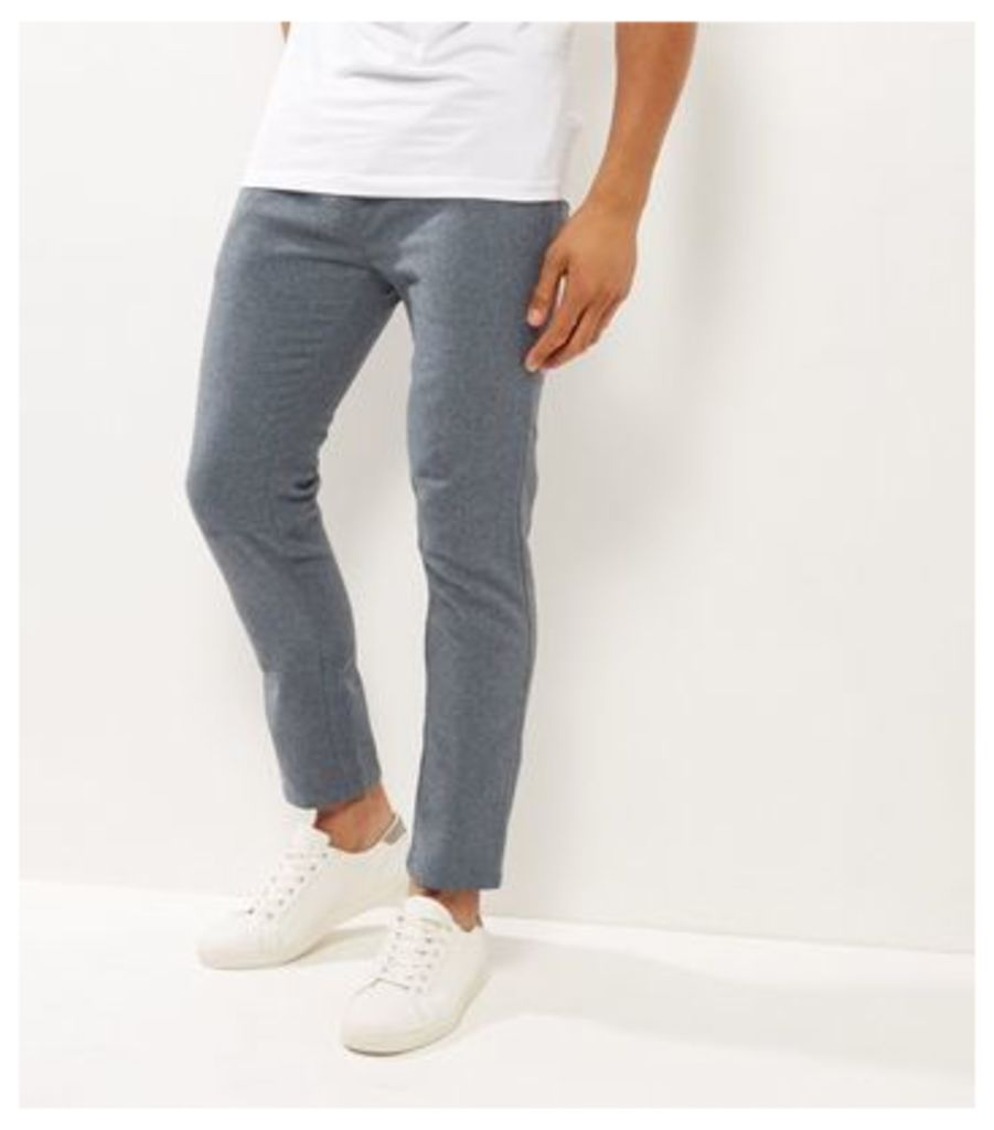Grey Speckled Basic Joggers
