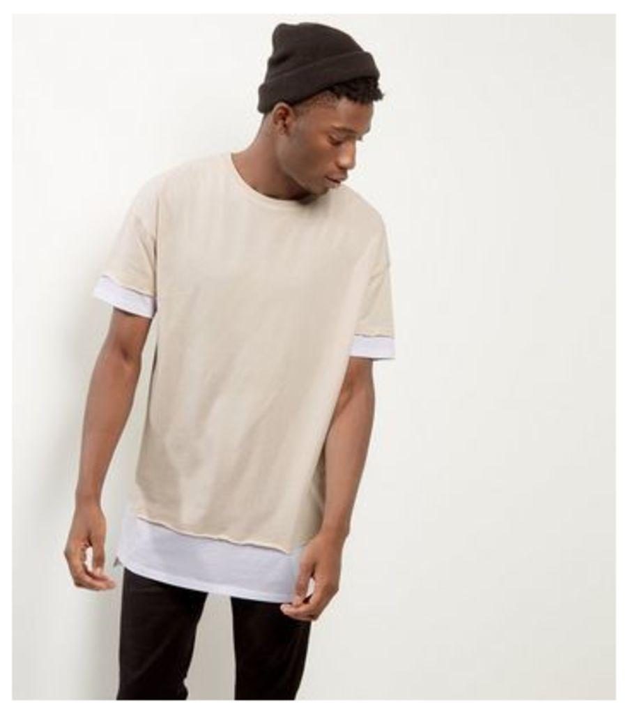 Stone Layered Longline T-shirt