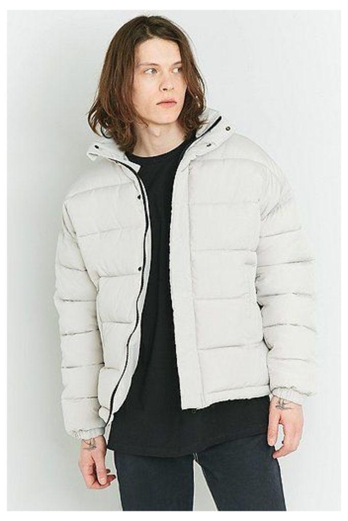 Shore Leave Stone Zip Puffer Jacket, Cream