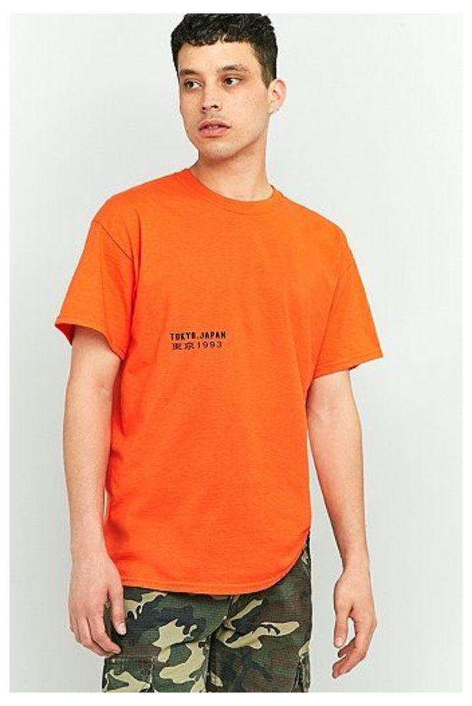 UO Tokyo Japan Orange T-shirt, Orange