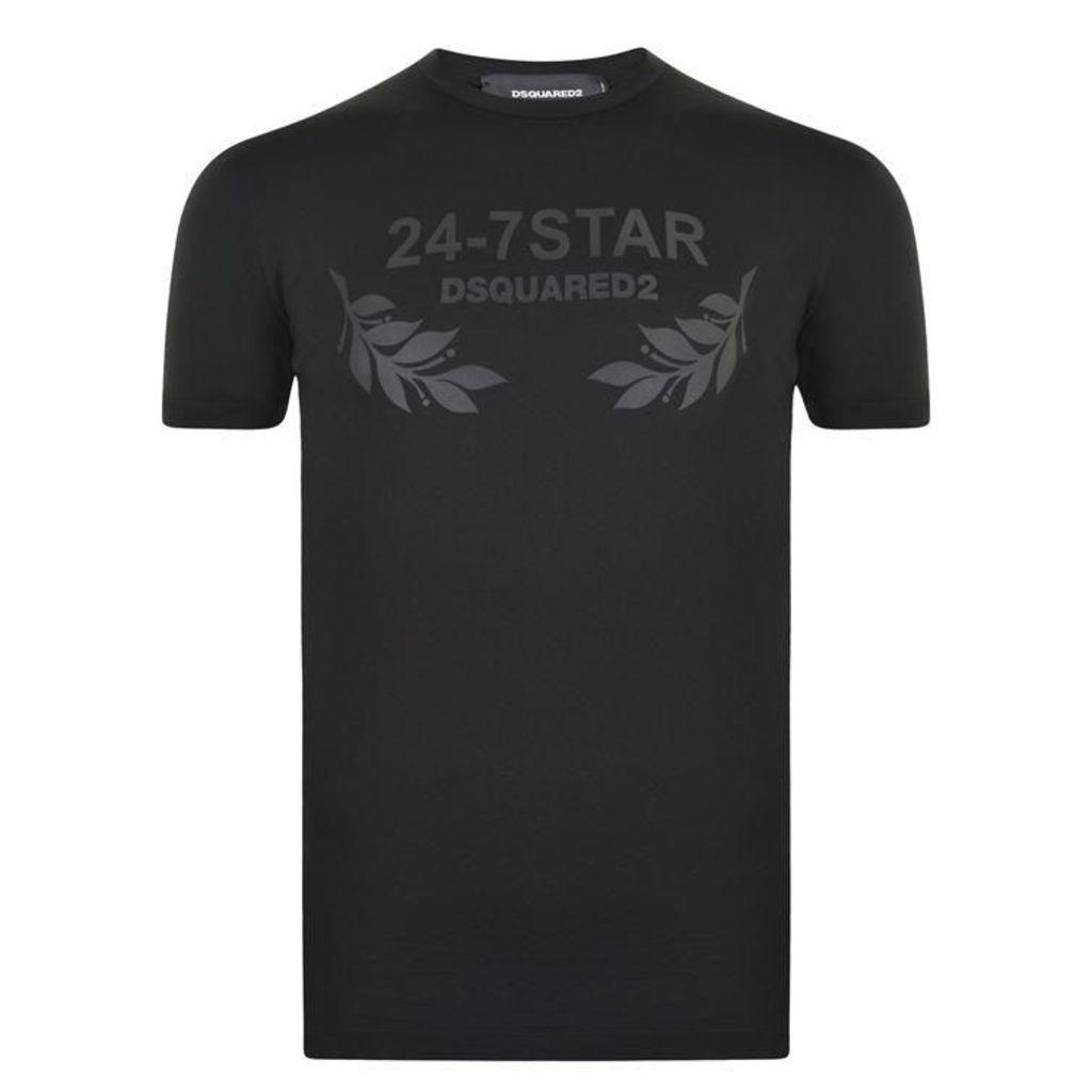DSQUARED2 Leaf Logo T Shirt