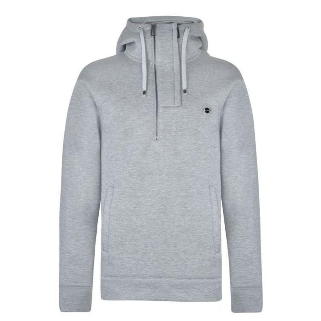 EMPORIO ARMANI Half Zip Hooded Sweatshirt
