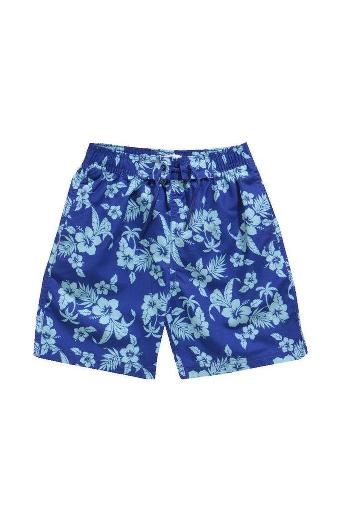 Hawaiian Print Swim Shorts - multi