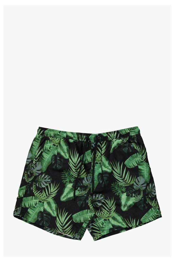 Print Swim Shorts - green