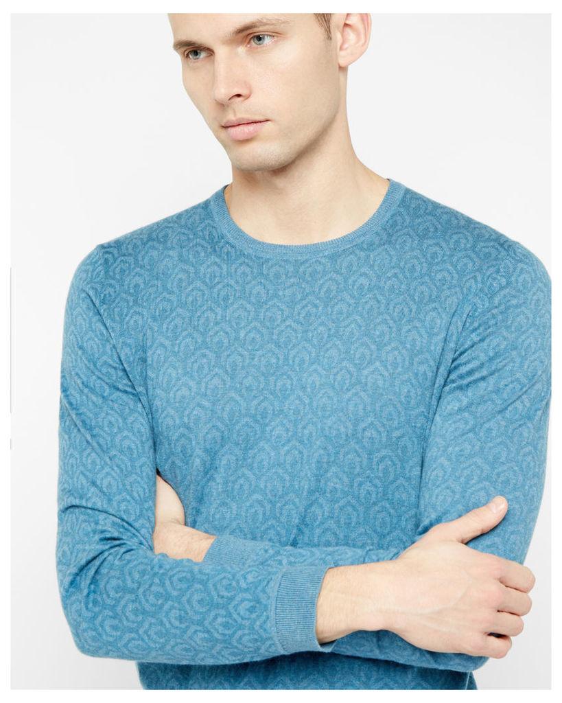 Ted Baker Geo printed cotton jumper Blue