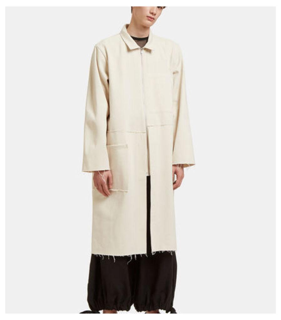 Oversized Mid-Length Rough Trim Jacket