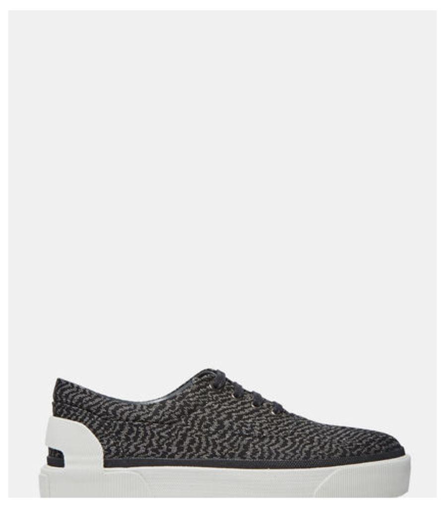 Low-Top Woven Zebra Sneakers