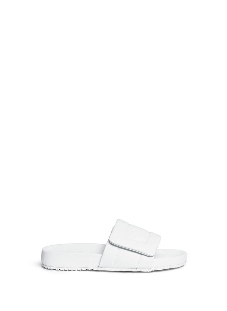 'Future' leather slide sandals