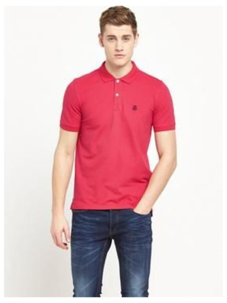 Selected Homme Short Sleeve Embroidered Polo Top