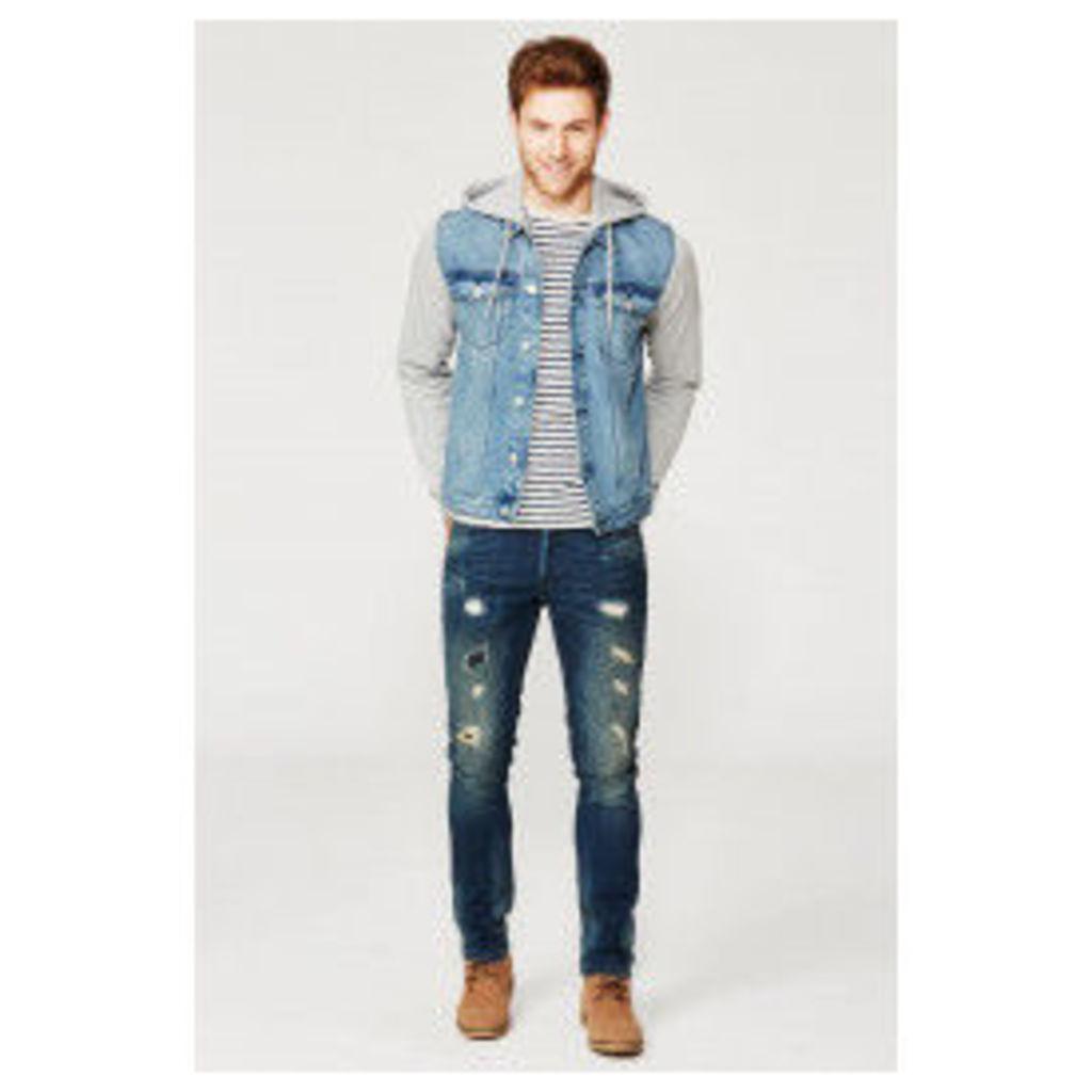 Threadbare Mambo Denim Jacket - Blue
