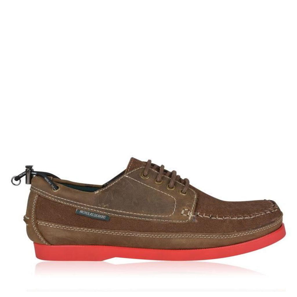 NICHOLAS DEAKINS Suede Gibson Boat Shoes