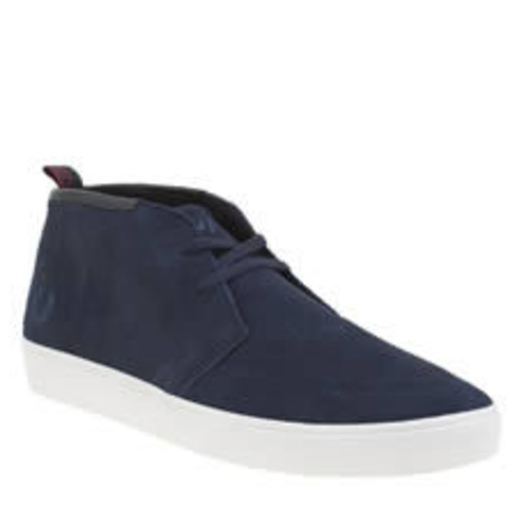 Fred Perry Navy Shields Mid Mens Trainers