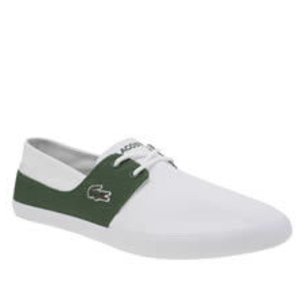 Lacoste White & Green Marice Lace Mens Trainers