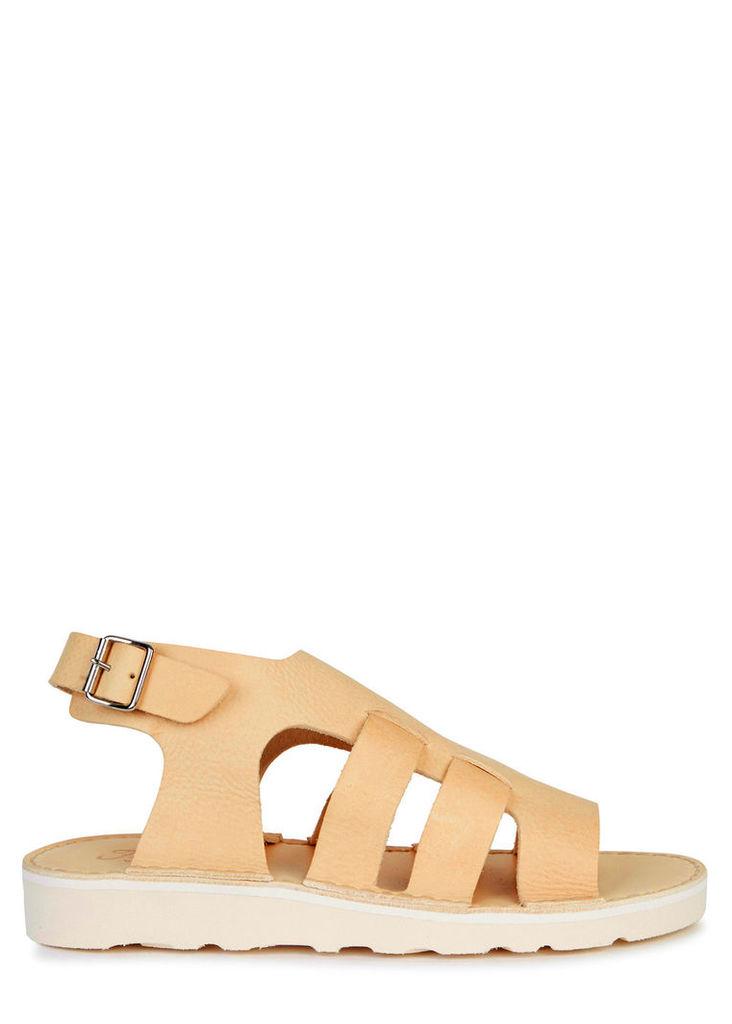 D031 sand leather sandals