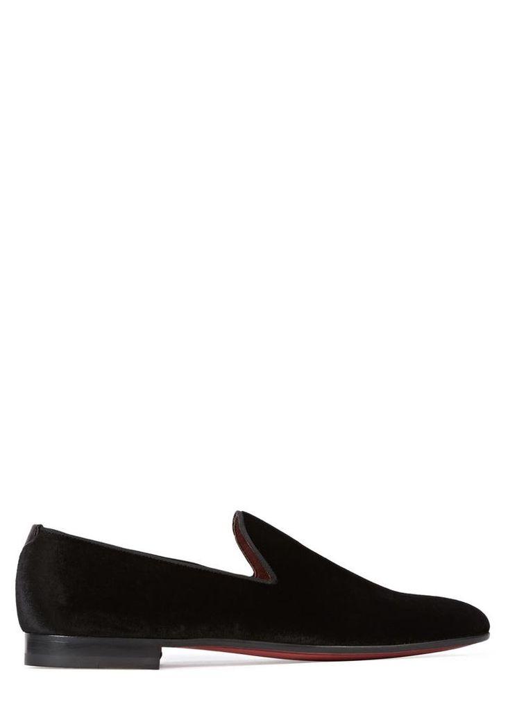 Dorio black velvet loafers