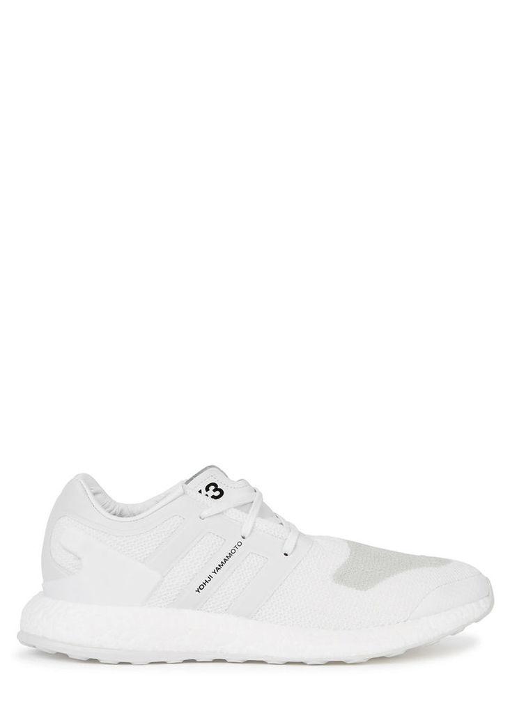 Pure Boost white primeknit trainers