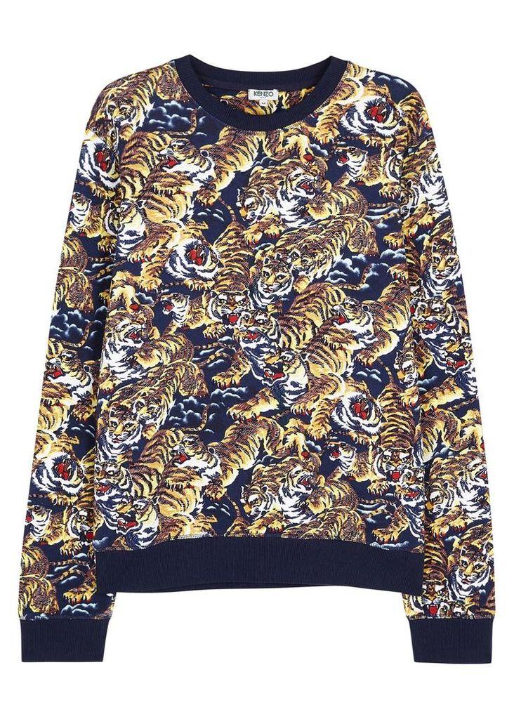 Flying Tiger printed cotton sweatshirt
