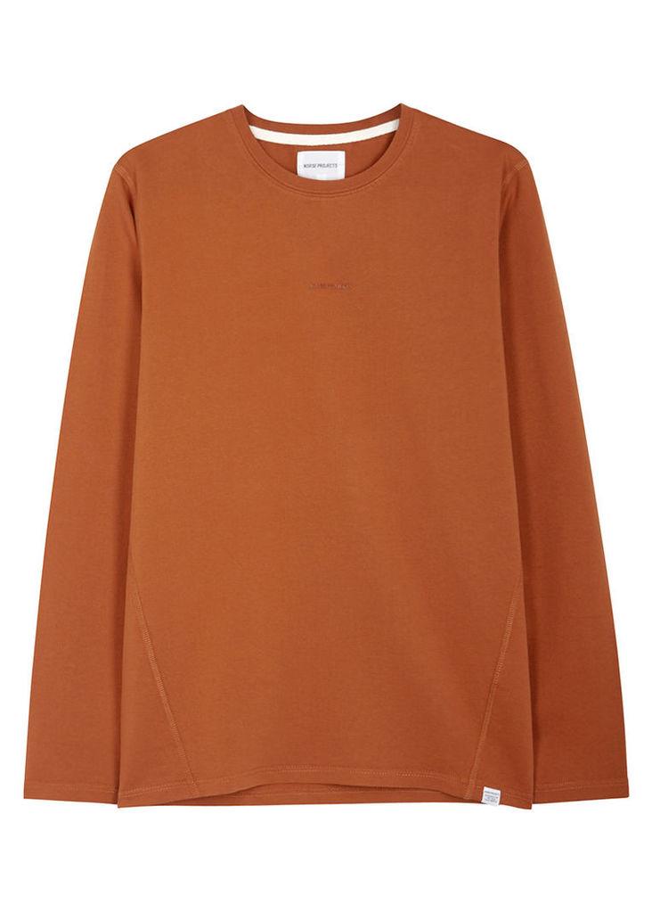 James orange cotton top