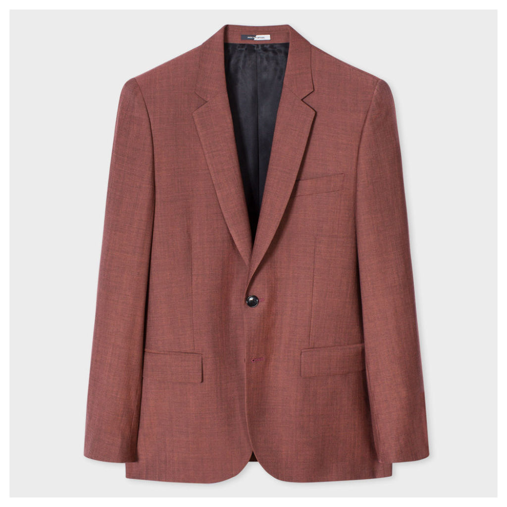 Men's Mid-Fit Coral Wool-Mohair Blazer