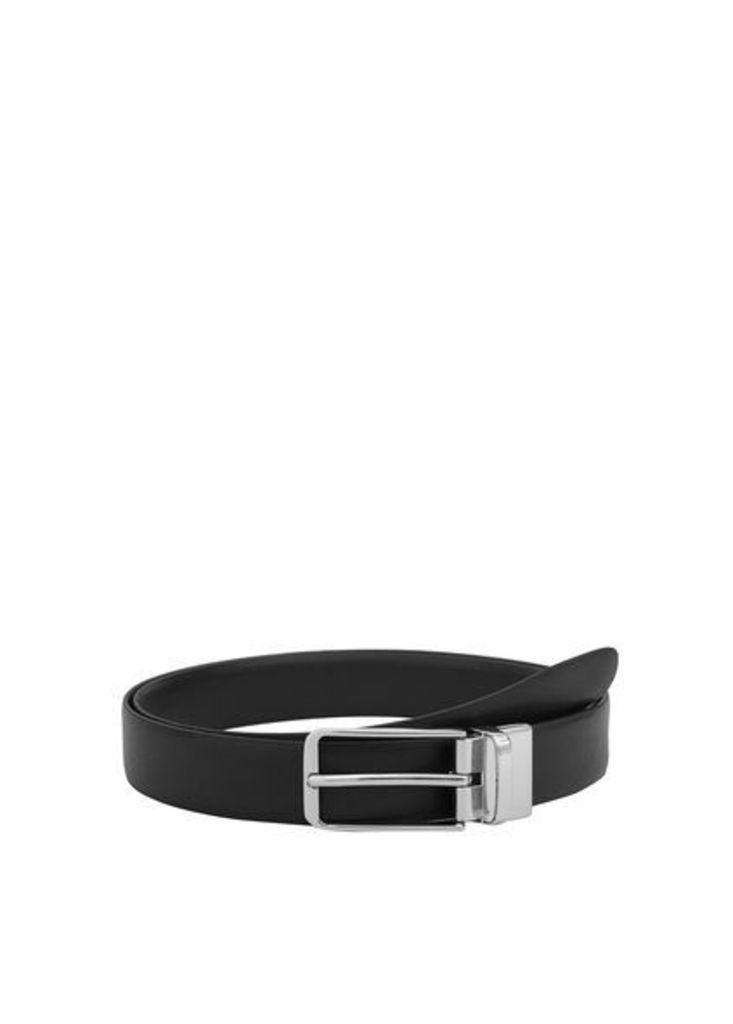 Reversible suit leather belt