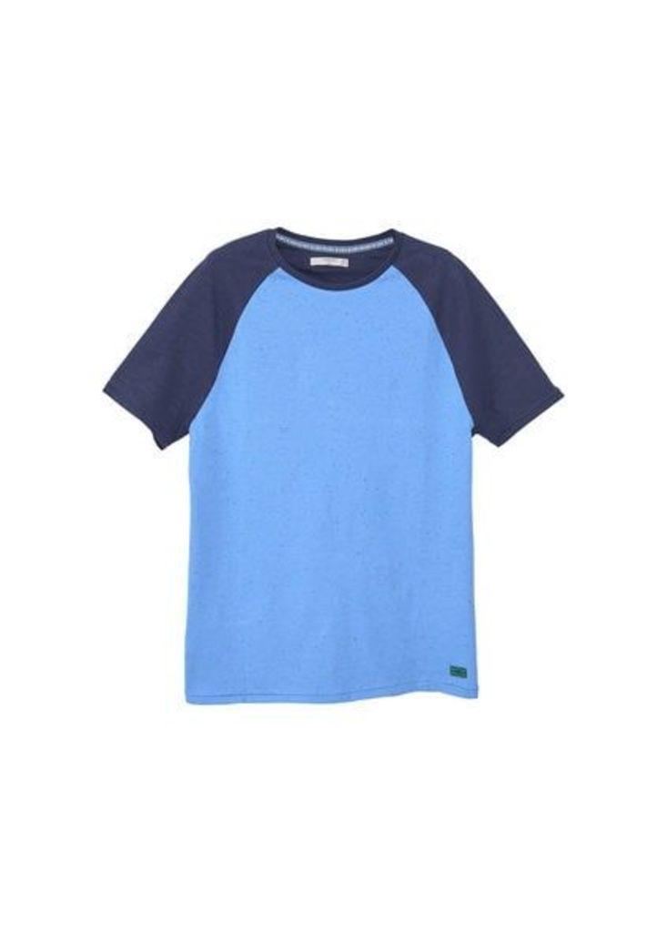 Flecked cotton-blend t-shirt