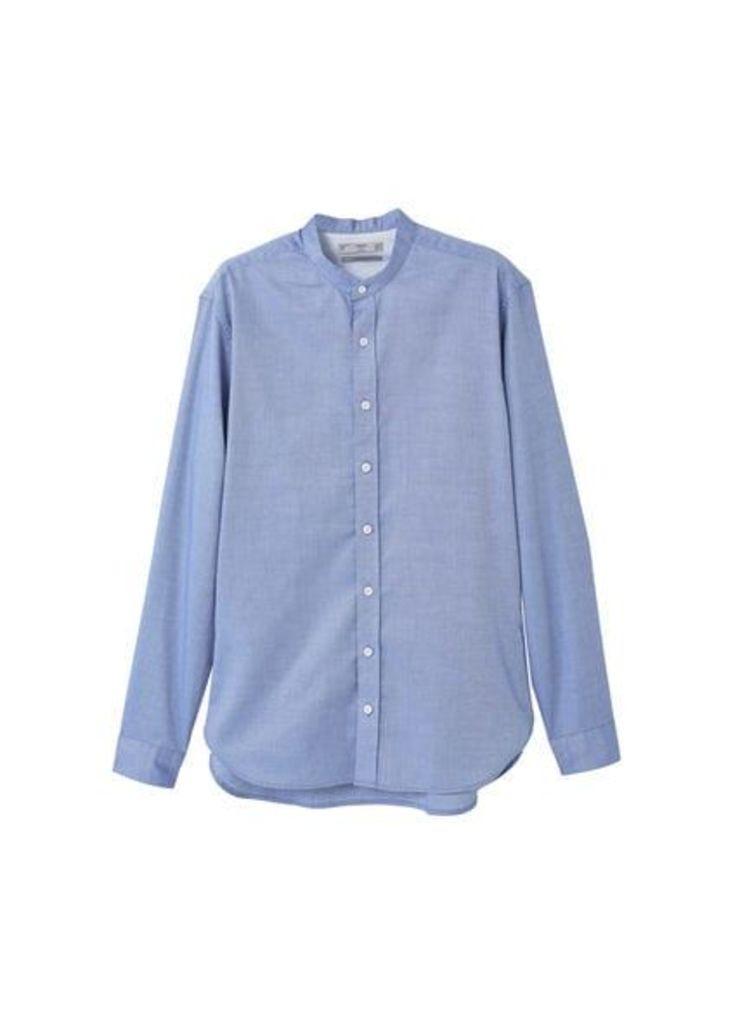 Slim-fit cotton piqué shirt