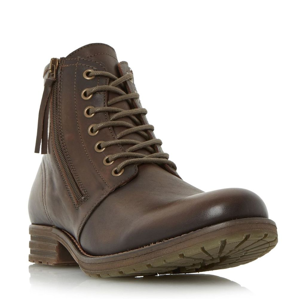 Cargo Double Zip Round Toe Boot