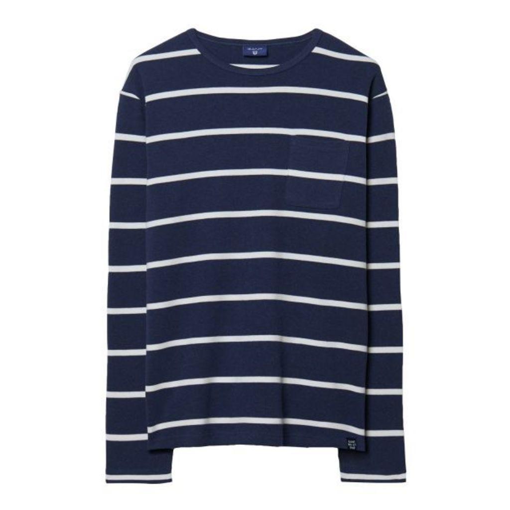 Breton Striped T-shirt - Persian Blue