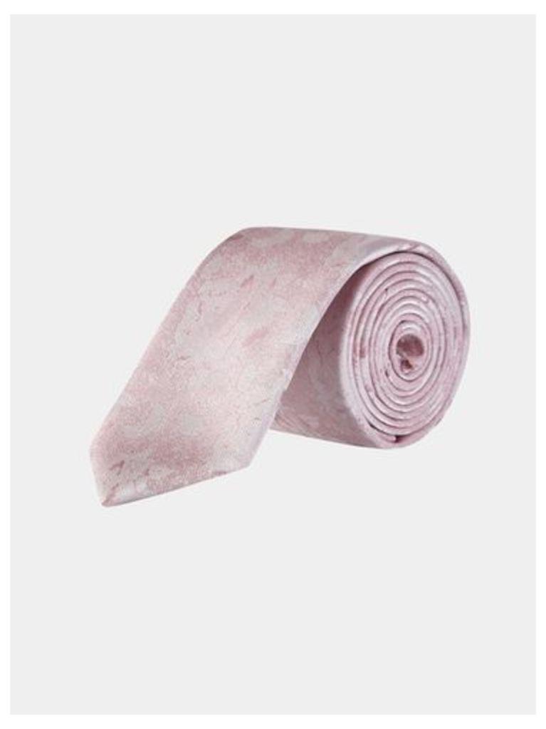Mens Light Pink Floral Tie, PINK