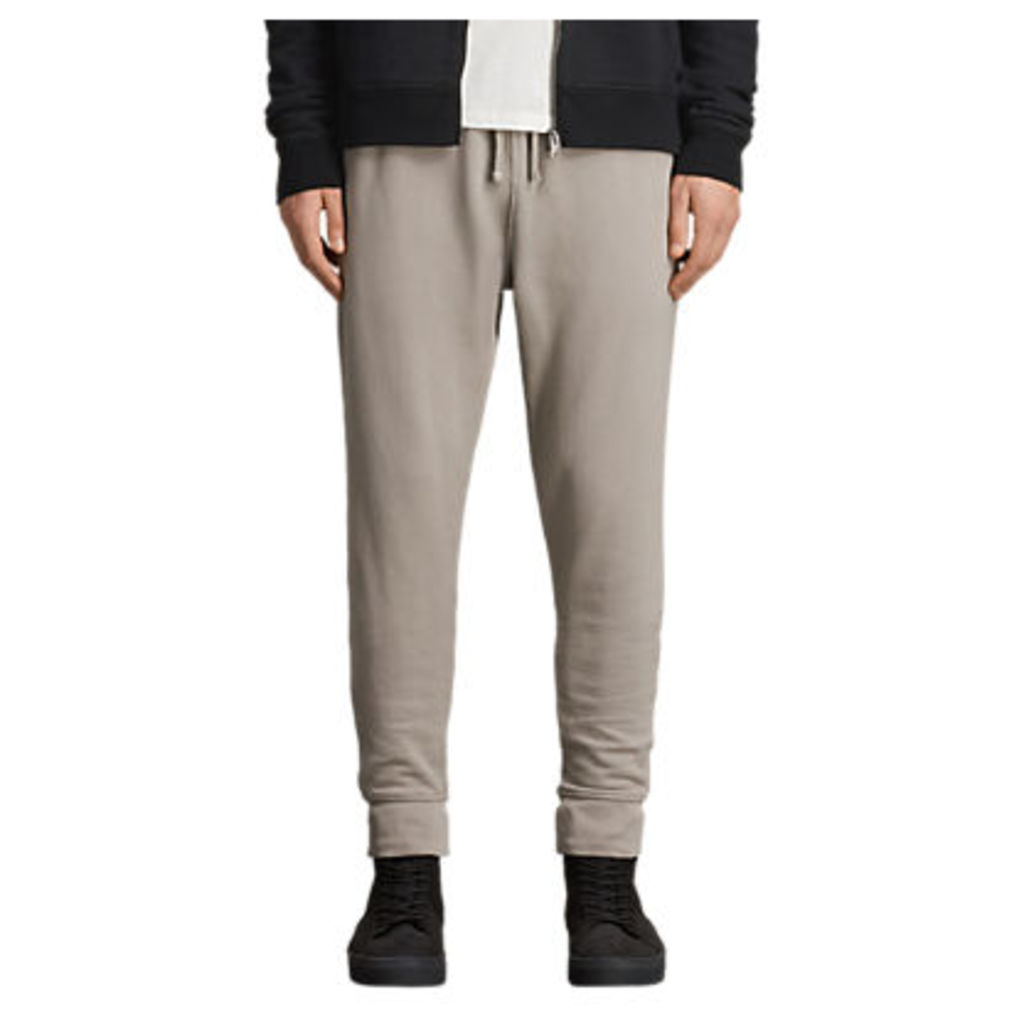 AllSaints Raven Cuffed Tracksuit Bottoms, Concrete Grey