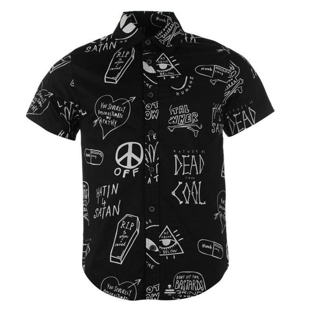 Disturbia Down Shirt Mens